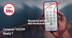 EXETAT 2020 : Comment vérifier les résultats avec Vodacom